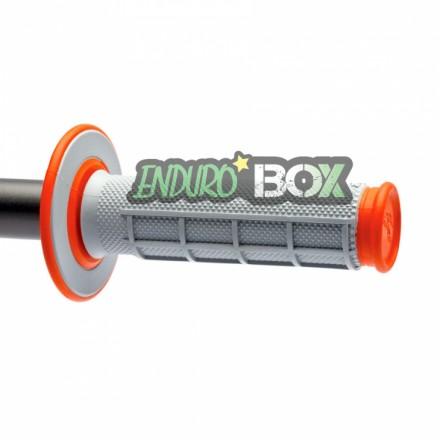Revêtements RENTHAL Dual Grip Gris/Orange Enduro Box