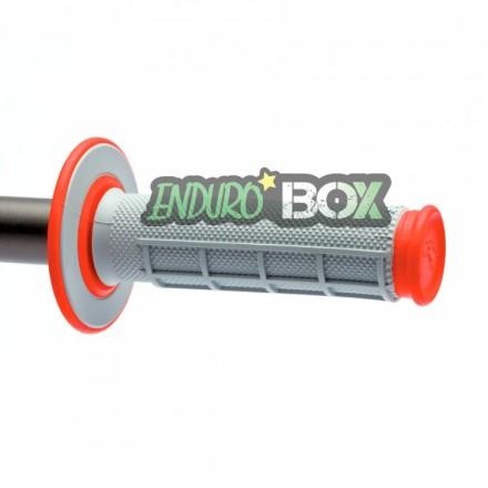 Revêtements RENTHAL Dual Grip Gris/Rouge Enduro Box