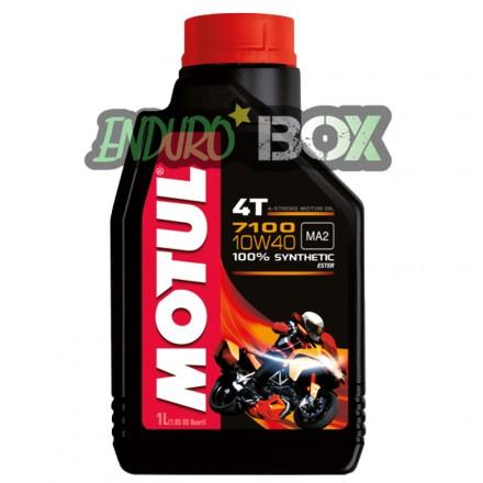 Huile 4T 7100 10W40 MOTUL 1L Enduro Box