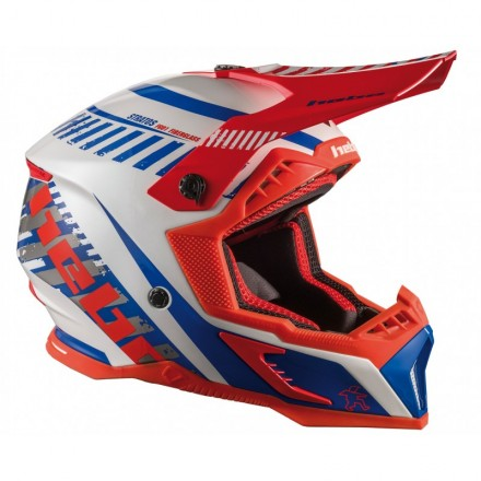 Casque HEBO Stratos Fibre Rouge Enduro Box