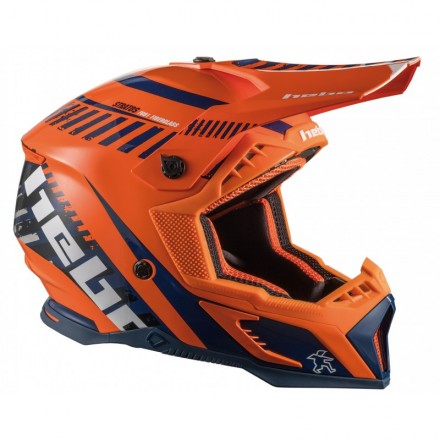 Casque HEBO Stratos Fibre Orange Enduro Box