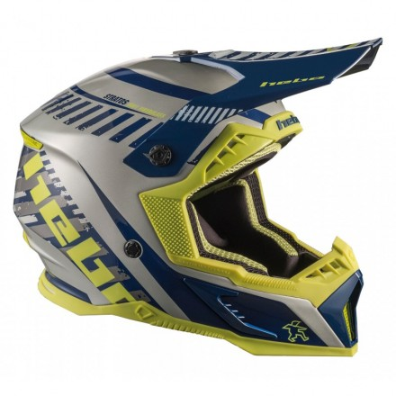 Casque HEBO Stratos Fibre Bleu Enduro Box