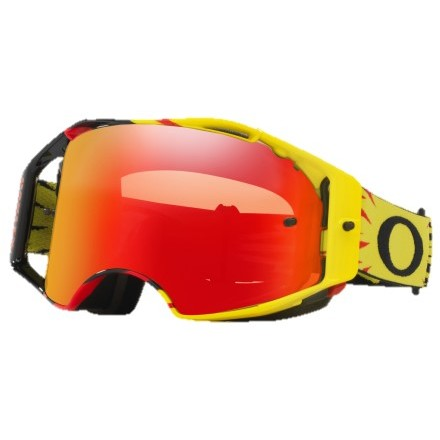 Lunettes OAKLEY AirBrake High Voltage Yellow/Red Enduro Box