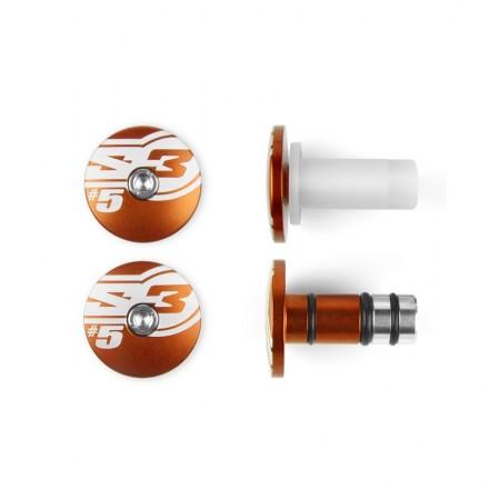 Embouts de Guidon S3 End5 Oranges Enduro Box