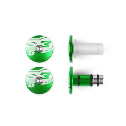 Embouts de Guidon S3 End5 Verts Enduro Box