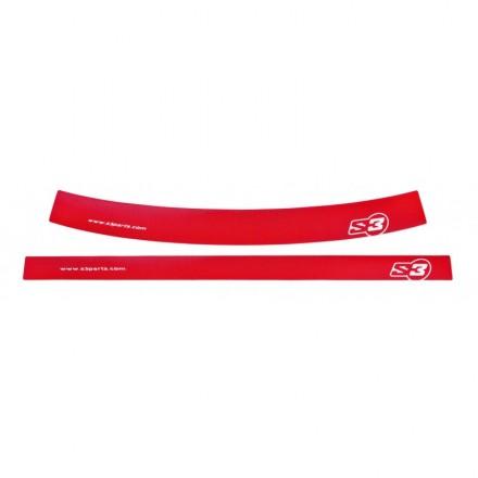 Autocollants de Jantes S3 Rouges Enduro Box