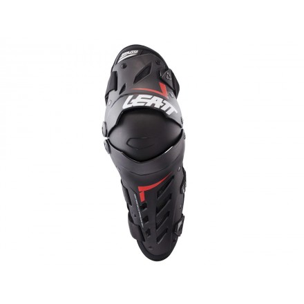 Genouillères LEATT Daul Axis Noires/Rouges Enduro Box