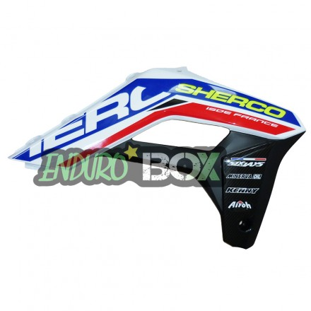 Protection Ouie de Radiateur Gauche SHERCO 2018 Six Days Enduro Box