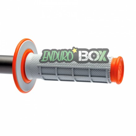 Revêtements RENTHAL Dual Grip Gris/Orange Enduro Box