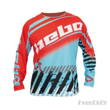 Maillot HEBO Stratos Bleu Clair Enduro Box