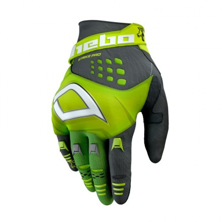 Gants HEBO Strike Jaune Fluo Enduro Box
