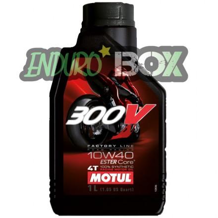 Huile 4T 300V Factory Line 10W40 MOTUL Enduro Box