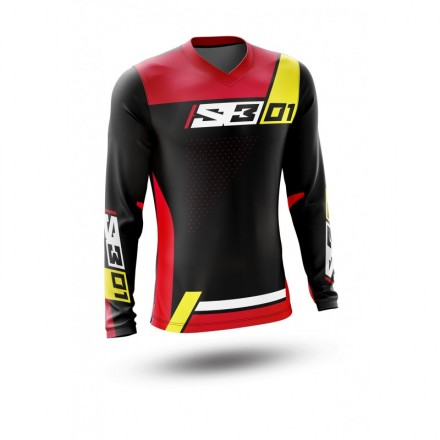 Maillot S3 Collection 01 Rouge Jaune Enduro Box