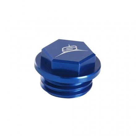 Bouchon de remplissage d'huile SHERCO Anodisé Bleu Enduro Box