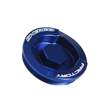 Couvercle Filtre à Huile SHERCO 4 Temps Anodisé Bleu Enduro Box