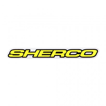 Autocollant SHERCO 10cm Blanc Enduro Box