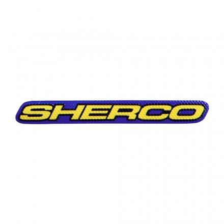 Autocollant SHERCO 10cm Bleu Enduro Box