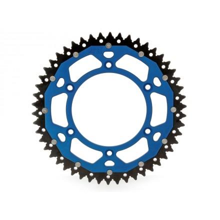 Couronne Bi-Composant ART Noir/Bleu 49 Dents Enduro Box