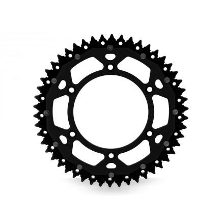 Couronne Bi-Composant ART Noir/Noir 48 Dents Enduro Box