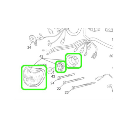 Optique Phare SHERCO Complet 04-11 Enduro Box