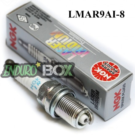 Bougie NGK Laser Iridium LMAR9AI-8 Enduro Box