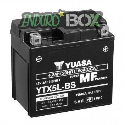 Batterie YUASA YTX5L-BS Enduro Box