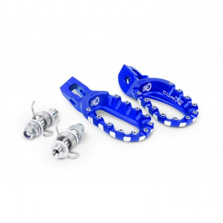 Repose Pieds S3 Curve Bas Aluminium Bleu Enduro Box