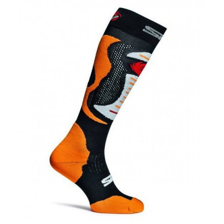 Chaussettes SIDI Faenza Orange Fluo Enduro Box